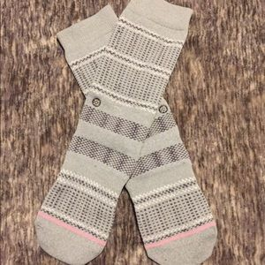 Size M, Gray and Pink, Lightly Worn, Stance Socks